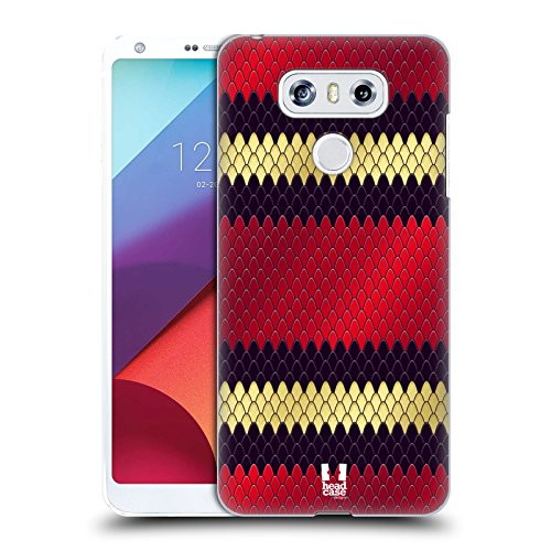 Snake Pattern Design (Head Case Designs Milk Snake Snake Pattern Hard Back Case for LG G6 / G6 Dual)