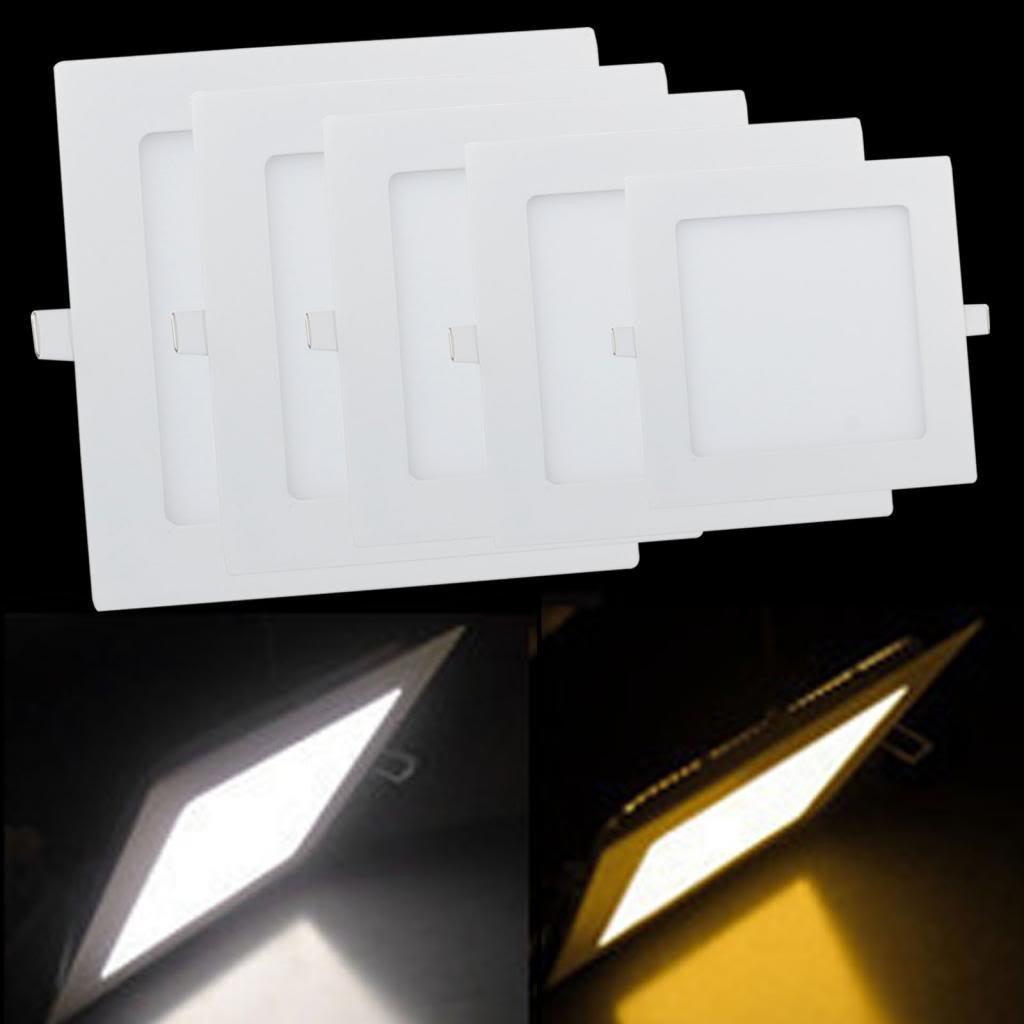 Lemonbest 18 Watt LED Panel Light, Square Recessed Lighting Fixture ... for Led Panel Light Square And Round  575cpg