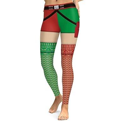 93e341a37326c Women Gym Leggings Christmas Printed Pencil Trousers Skinny Legging High  Waist Yoga Sports Pants Workout Running Tights: Amazon.co.uk: Clothing