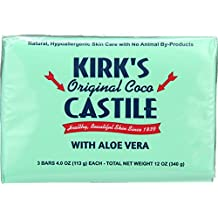Kirks Natural Bar Soap - Coco Castile - Aloe Vera - 4 oz - (Pack of 3)
