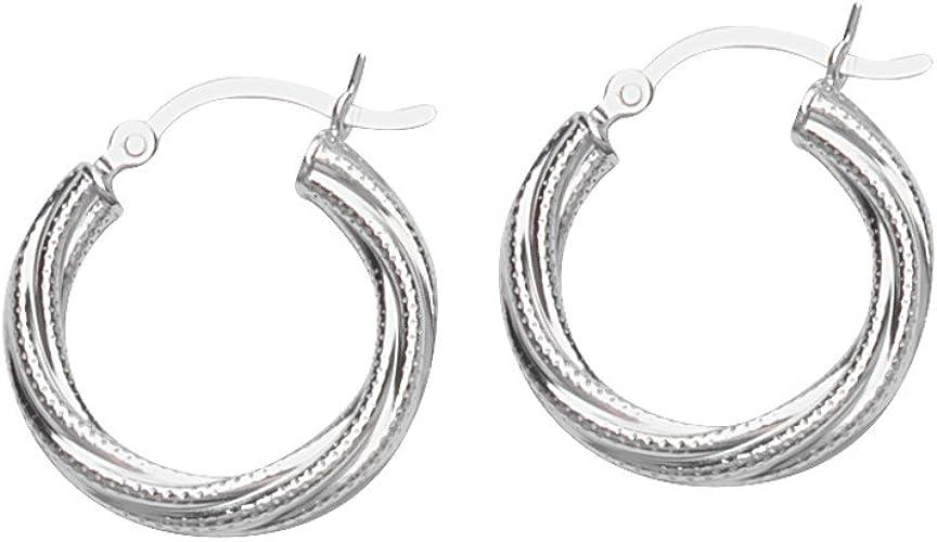 Hoop Earrings SS TWIST HOOP EARRING