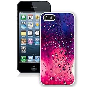 NEW Unique Custom Designed iPhone 5S Phone Case With Rain Pink Bokeh_White Phone Case