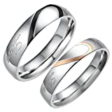 "Best Flongo Wedding Ring Sets - Flongo Free Engraving Men's Womens 2PCS ""Real Love"" Review"