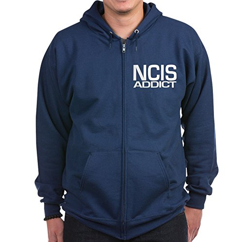 CafePress NCIS Addict - Zip Hoodie, Classic Hooded Sweatshirt With Metal Zipper Addict Zip Hoodie