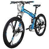 Folding Bike G4 21 Speed Mountain Bike 26 inches 3 Spoke Wheels Dual Suspension Bicycle