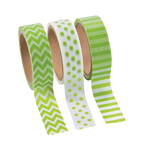 Fun Express Green Chevron Stripes