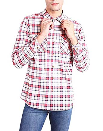 Chokore Regular Fit Cotton Multi Color Checked Shirt(XL)