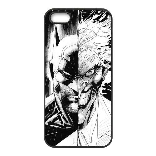 E5Q62 Batman Joker P7I8IE coque iPhone 5 5s cellule de cas de téléphone couvercle coque noire KM8PKY8RL