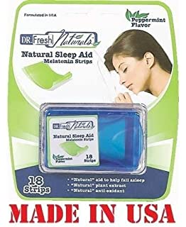 Dr Fresh Natural Melatonin Sleep Aid Peppermint Flavor Strips