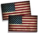 america flag sticker - Rustic USA American Flag Sticker Vinyl Die Cut Decal Old America 50 US State Car Truck Window Bumper Graphic
