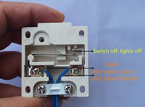 Interruptor de la puerta / [1Pack] SFTlite Empuje de superficie Negro Para descomponer la luz de puerta del interruptor del empuje 2A 250V para romper interruptor eléctrico de embutir: Amazon.es: Bricolaje y