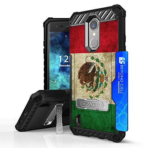 LG Aristo, Phoenix 3, Risio 2, Rebel 3, LG Fortune, K8 2017, LG LV3 Case, Spots8 Dual Layer Hybrid Phone Cover With Screen Protector Phone Strap Kckstand Card Slot - Mexican (Mexican Corner)
