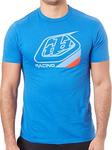 Troy Lee Designs Mens TLD Racing Precision Logo Short-Sleeve T-Shirt (Blue/Red, Medium)