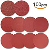 6-inch PSA Sanding Discs, Self Adhsive Back, Assorted Sandpaper 60-1000 Grits, 100pcs by FRIMOONY