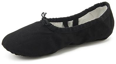 aebaf24abfed9 Dreamone 22-44 Chaussures de Ballet pour Enfant Taille 22-44 - Noir ...