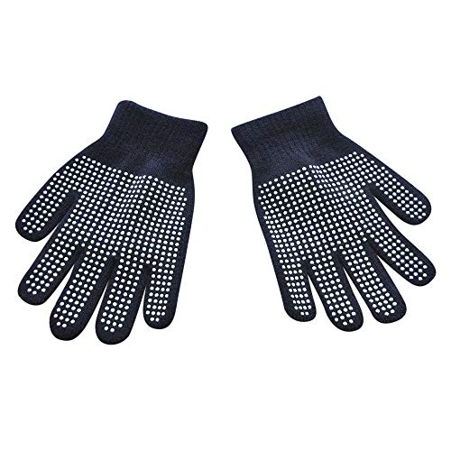 Haluoo Boys Girls Magic Stretch Gripper Gloves, Kids One Size Winter Warm Knit Gloves for 6-14 Years Old Children - Gloves Gripper Magic