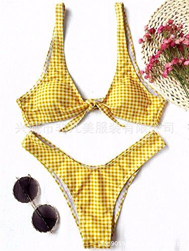 Split Gk Bagno costume bikini costume Timbro Donne Da Delle Toracica Del bikini Fascia Donna Griglia Bikini Swimsuit Set Yellow Bagno Costume bikini Della qqOEdrwcW