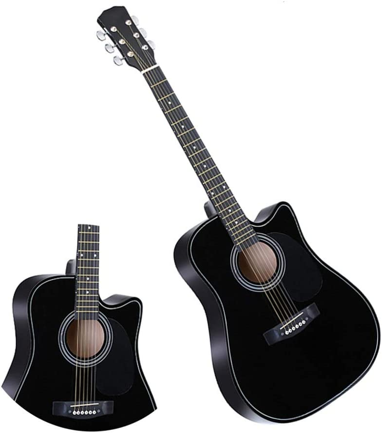BAIYING-Guitarra Acústica Guitarra Clasica Práctica Estudiantil Transporte Al Aire Libre Suena Dulce Cuerda De Metal Tilo 41 Pulgadas con Mochila Impermeable, 4 Colores