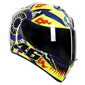 Image of Helmets AGV Unisex-Adult Full Face K-3 SV Rossi 2002 Motorcycle Helmet (Multi, Medium/Small)
