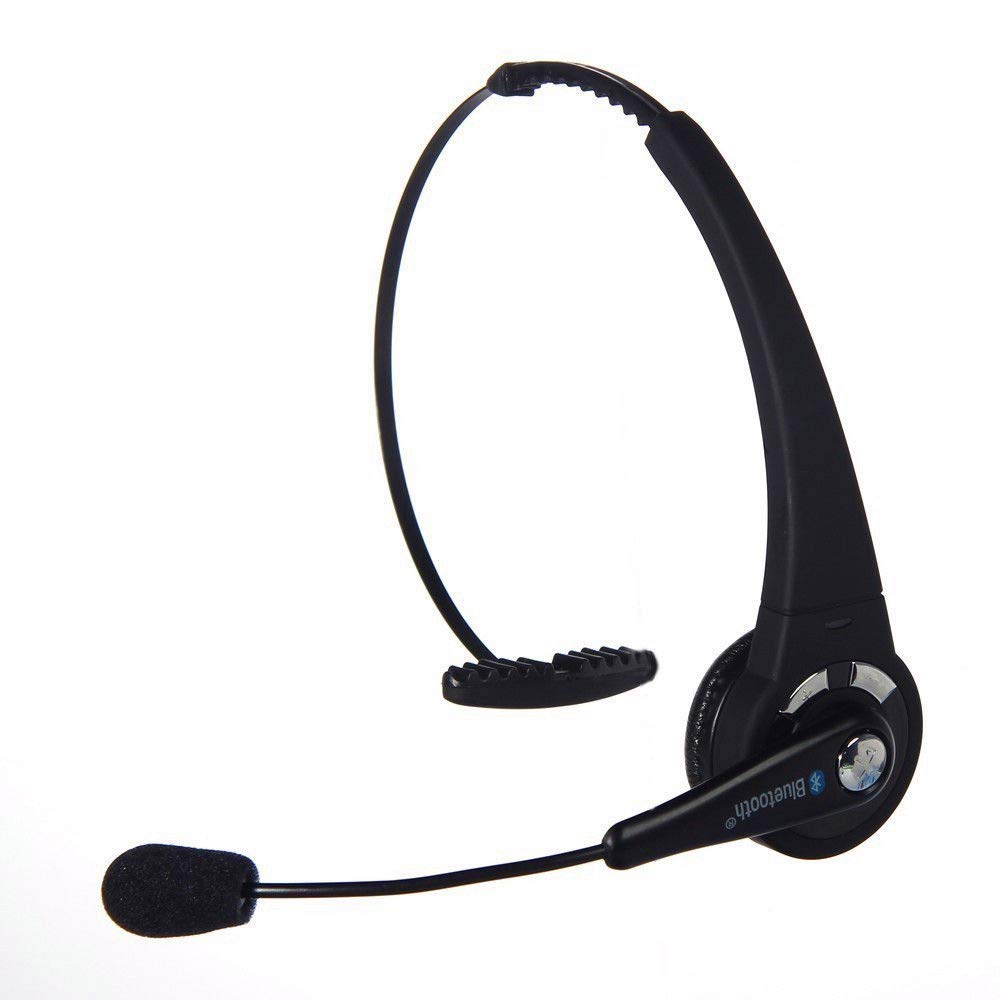 Truck Driver Bluetooth Headset with Microphone LUXMO Wireless Bluetooth Headphones Noise Cancellation on Ear Car Office Phone Headset for iPhone Android Cellphones Call Center Skype PC Tablets