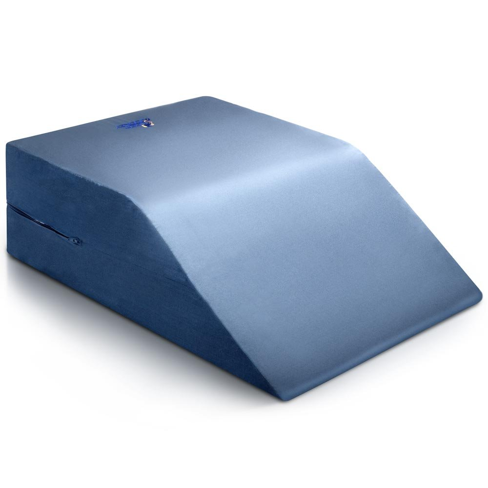 Leg Pillow Bed Wedge - Clinical Therapeutic Grade Post Surgery Rest For Legs - Uni sex (Blue)