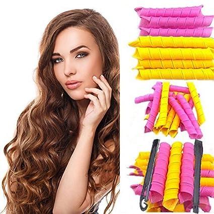 Flexibles Rulos para el pelo Rizador, Arouilp 50 CM DIY 40PCS Bigudíes Rulos para el