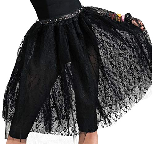 80s Tulle Skirt. Knee Length with lace detailing.