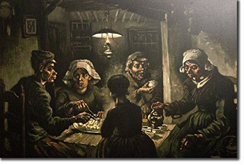 (Introspective Chameleon Van Gogh - The Potato Eaters (1885) - Reproduction of a Beautiful Vincent Van Gogh Painting - Photo Poster Print Art Gift - Size: 12 x 8 Inches)