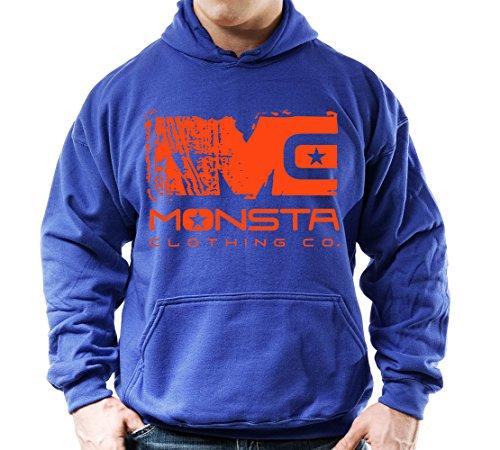 (Blue/Orange) MC-Monsta-253-Hoodie 2XL