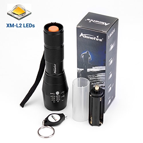 Alonefire nightlight flashlight led flashlights 1000 lumens tactical flashlight G700 brightest with free flashlight keychain xml-L2 aluminum Adjustable Focus Zoomable 5 Mode for camping hiking BBQ