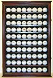 80 Novelty/Souvenir Golf Ball Display Case Holder Cabinet, (Mahogany Finish)