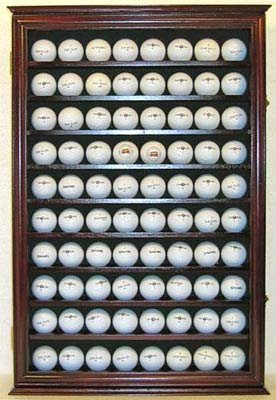 Large 80 Souvenir Golf Ball Display Case Holder Cabinet, Wall Mount - Display Case Ball Golf Glass