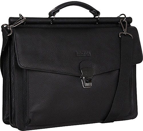 Kenneth Cole Reaction Men's My Rod-Ern Life - Computer Dowel Rod Portfolio Black Briefcase