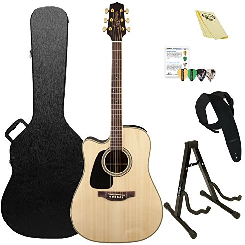 (Takamine 6 String Acoustic-Electric Guitar, Left Handed (GD51CE LH NAT-KIT-2))