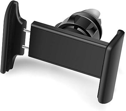 Vanzon® Soporte Movil Coche, Universal Soporte de Smartphone Teléfono para Rejillas del Aire de Coche Kit 360 ° Rotación para iPhone 8/7/6S/6/5S/5/SE, Samsung Galaxy Note 8/ S7, LG Nexus, HTC, Smartphone(Negro): Amazon.es: