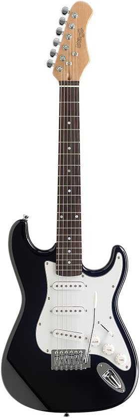 Stagg S300 3/4 Bk Standard S Electric Guitar - Black