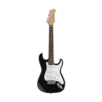 Amazon.com: Stagg S300 3/4 BK Standard S Electric Guitar - Black: Musical Instruments