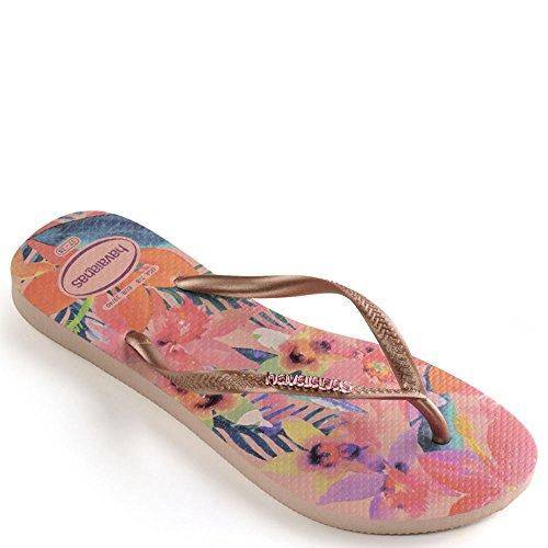 Havaianas Women's Slim Tropical Flip Flops Ballet Rose 39-40 M Bra ()