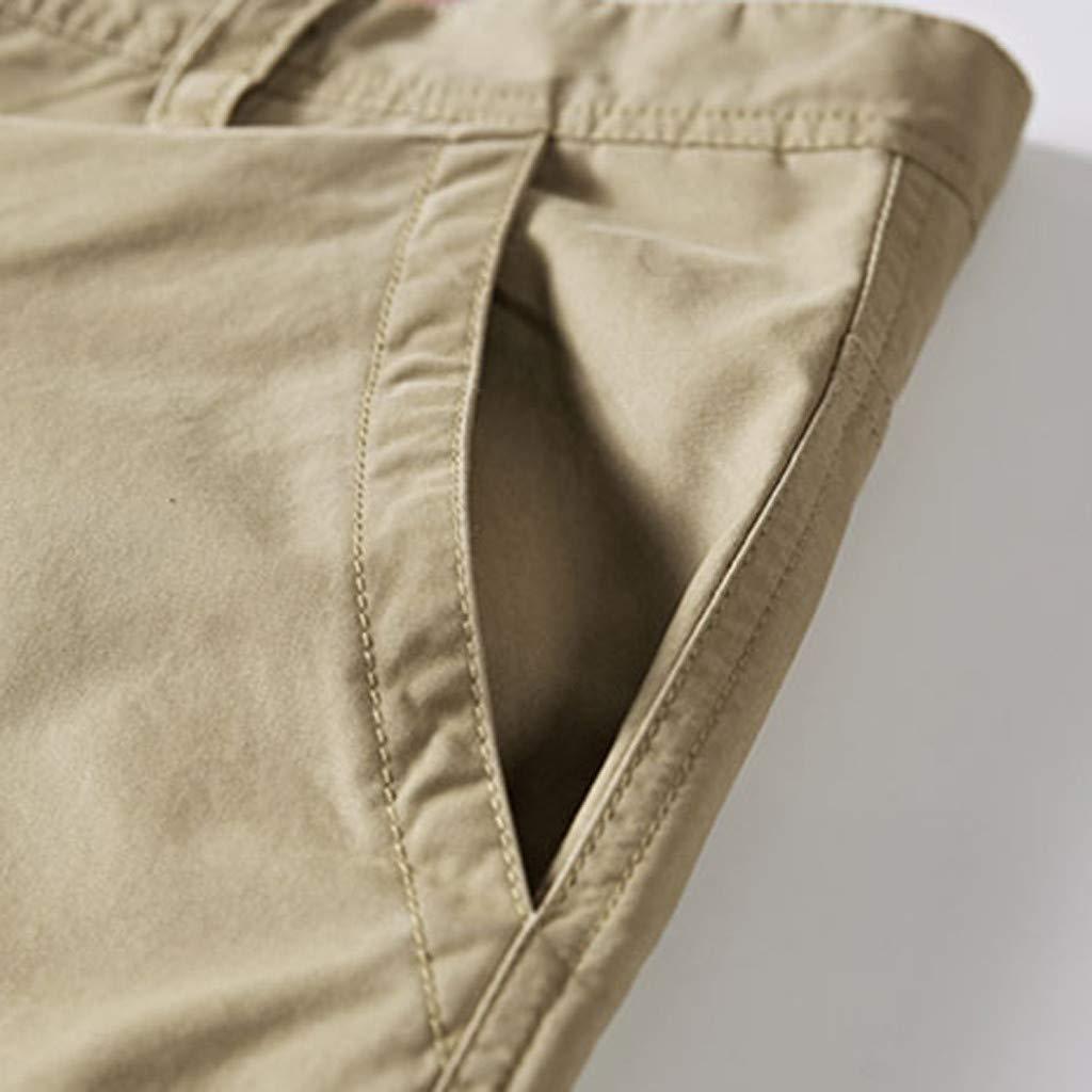Karinao Herren Cargo Shorts Herren Sommer Mode Shorts Kurze Camo Hosen Einfarbig Cargo Shorts Herren Classics Vintage Kurz Freizeithose Regular Fit 30,Khaki