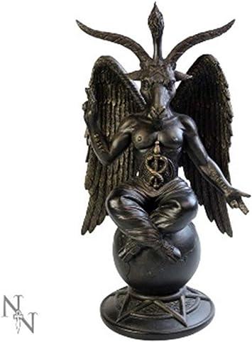 Statuetta anticata,baphomet -satana  29,5 cm, colore: bronzo B1063C4