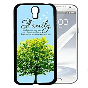 Family Tree Inspirational Quote (Samsung Galaxy S4 I9500) Hard Snap on Phone Case Cover
