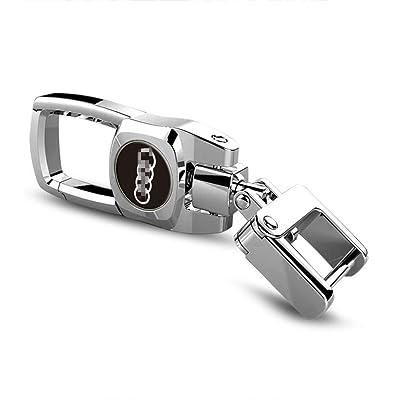Sturdy Car Key Fob Key Chain Heavy Duty Keychain for Audi Q7 Q5 Q3 A4 A5 A6 A3 A7 S4 8 Rs7 Rs4 S3 S4 S5 S6 S7 Rs Tt S Quattro: Automotive