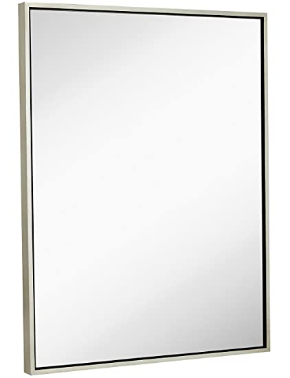 amazon com clean large modern antiqued silver frame wall mirror