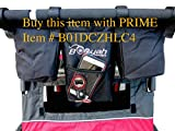 New and Improved Double Stroller Organizer By Booyah Child and Large Pet Stroller.