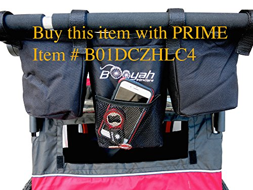 (New and Improved Double Stroller Organizer By Booyah Child and Large Pet Stroller.)