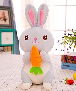 YOIL Lindo y Encantador Juguete Suave Peluches Conejo de Felpa 25cm con Zanahoria Juguete de Peluche