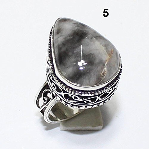 Vintage Silver Overlay (Dendrite Opal Ring Silver Overlay Fashion Jewellery Vintage Handmade Jewelry 7.50 US Size.)