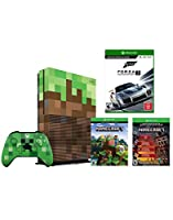 Xbox One S Minecraft Limited Editon 1TB Console, Forza Motorsport 7 and Limited Edition Minecraft Creeper Wireless Controller Bundle