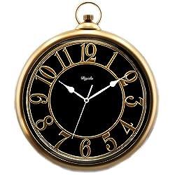 European Style Nostalgic Quartz Clock Champagne Gold 14 Inch Diameter: 42cmX36cmX5.5cm ( Color : Gold )