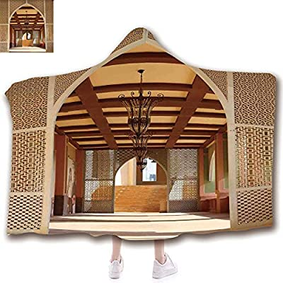 Fashion Blanket Ancient China Decorations Blanket Wearable Hooded Blanket,Unisex Swaddle Blankets for Babies Newborn by,Architecture in Doha Qatar Middle East Oriental,Adult Style Children Style